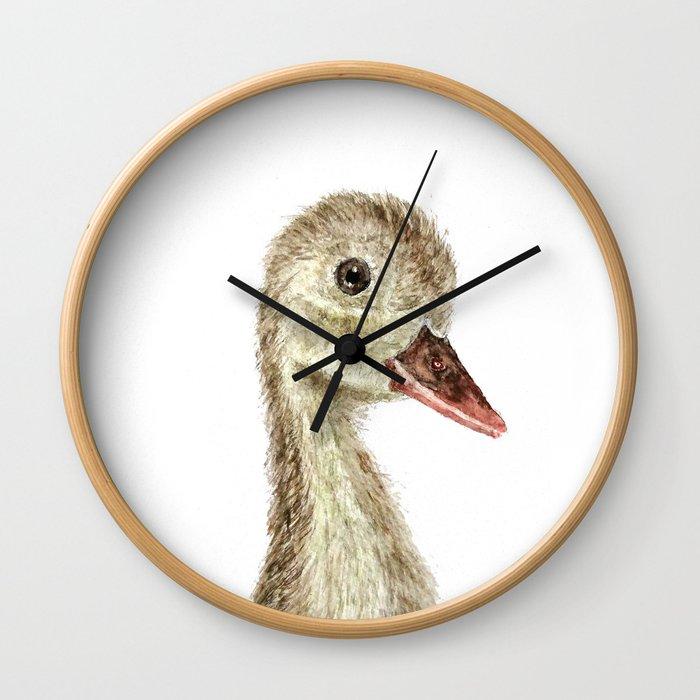 smiling little duck Wall Clock