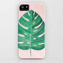Monstera Leaf #1 | Watercolor Painting iPhone Case