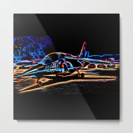 Neon Jet Metal Print