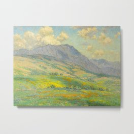 Granville Redmond Hazy Day in Antelope Valley, 1932 Oil Painting Vintage American Art Metal Print