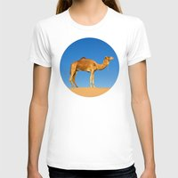 camel T-shirts featuring Camel by Chantal Seigneurgens