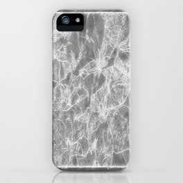 Mixed color Poinsettias 3 Outlined Gray iPhone Case