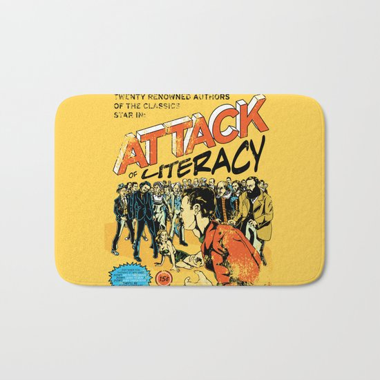 Attack of Literacy Bath Mat