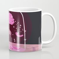beauty and the beast Mugs featuring Beauty & the Beast Rose by Derek Boman