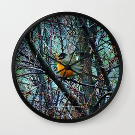 Red Robin - Round Robin - Jeronimo Rubio Photography 2016 (All Over) Wall Clock