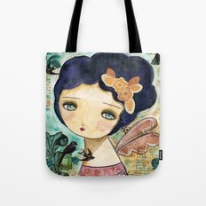Charity Wings Watercolor Collage Tote Bag