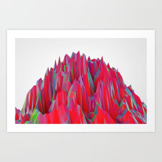 Cristal Mountain  Art Print