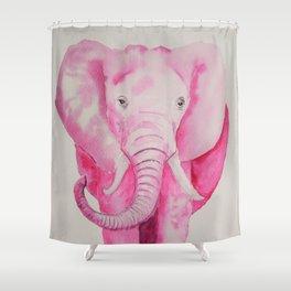 Fuchsia Elephant Shower Curtain