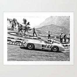 Mille Miglia 300 SL 722 Art Print