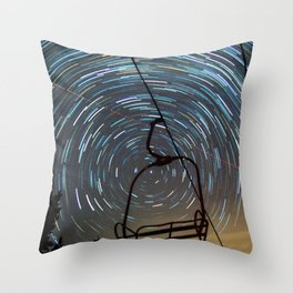 Chair Lift Spiral Throw Pillow
