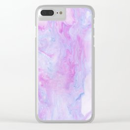 Violet marble Clear iPhone Case