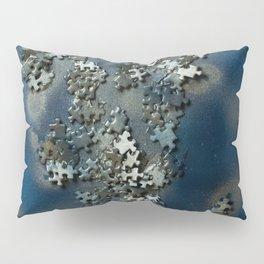 Puzzles on blue Pillow Sham