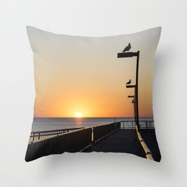 Sunrise Seagulls Throw Pillow