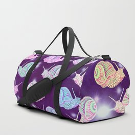 Psychedelic Space Snail Duffle Bag