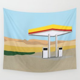 Death Valley Gas Station Wall Tapestry