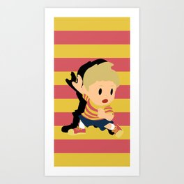 Lucas Super Smash Bros Art Print