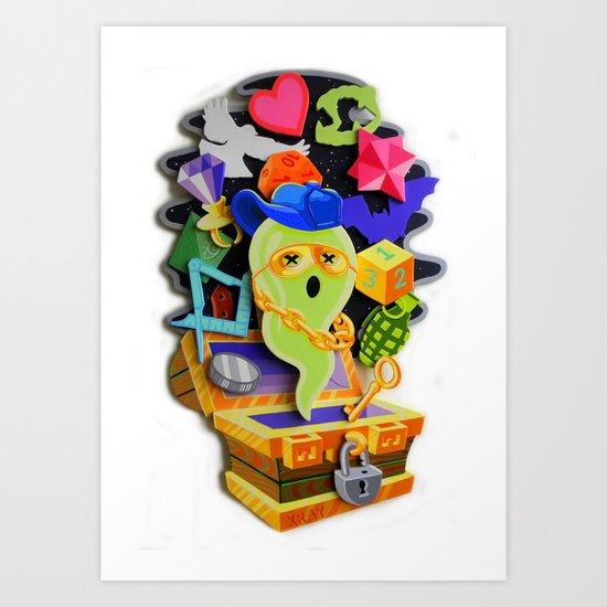 """SPOOKY CHARMS"" Art Print"