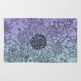 Flower Zen: Purple Fade Rug