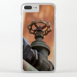 Rusty tubes Clear iPhone Case