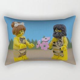 Caveman Valentine's Day Rectangular Pillow