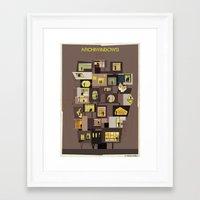 babina Framed Art Prints featuring archiwindow building by federico babina