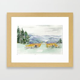 San Sophia Watercolor Framed Art Print