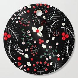 mistletoe black Cutting Board