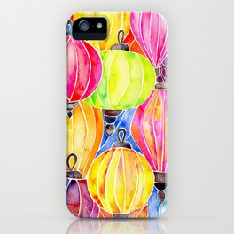 Vietnamese Rainbow Lanterns iPhone Case