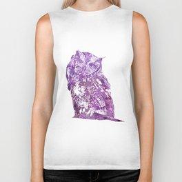 purple owl Biker Tank