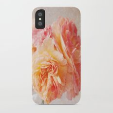 Textured Pastel Rose Slim Case iPhone X