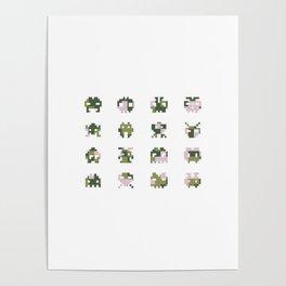 Camo pixel Poster