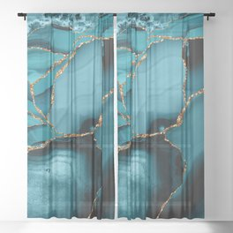 Iceberg Marble Sheer Curtain