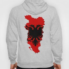 Albania Map with Albanian Flag Hoody