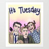 enerjax Art Prints featuring It's Tuesday by enerjax