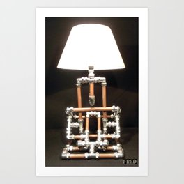 Articulated Desk Lamps - Copper and Chrome Collection - FredPereiraStudios_Page_17 Art Print
