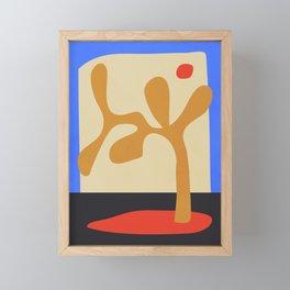 abstract minimal tree Framed Mini Art Print