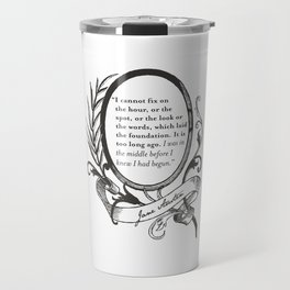 "Jane Austen ""In the Middle"" Travel Mug"