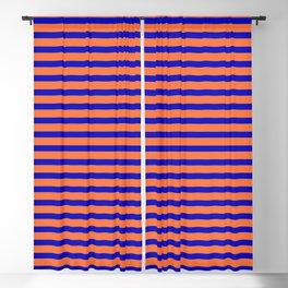 Vintage Beach Stripes Blackout Curtain