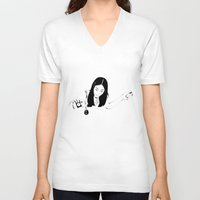 drink V-neck T-shirts featuring Dangerous Drink by Renan Lacerda