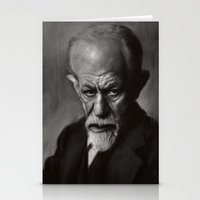freud Stationery Cards featuring Sigmund Freud by Jason Seiler