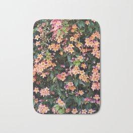 Tangerine Beauty Cross Vine Flowers Bath Mat