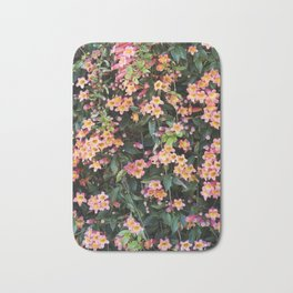 Tangerine Beauty Cross Vine Flowers Bath Mat