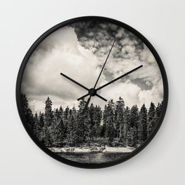 Far Away Clouds Passing By Wall Clock