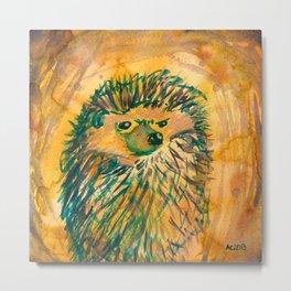 Angry Hedgehog Metal Print