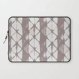 Simply Braided Chevron Red Earth on Lunar Gray Laptop Sleeve