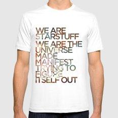 WE ARE STARSTUFF Mens Fitted Tee MEDIUM White