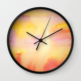 Planetary Watercolor Wall Clock