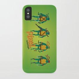 Ninja Turtles - Pixel Nostalgia iPhone Case