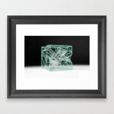neon cube Framed Art Print