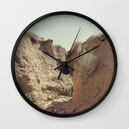 In a Rut Wall Clock
